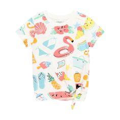 T-shirt tricot blanc Boboli | La Redoute Girls With Glasses, Kids Fashion, Fashion Design, Shirts For Girls, T Shirt, The Incredibles, Knitting, Stuff To Buy, Pool Fun