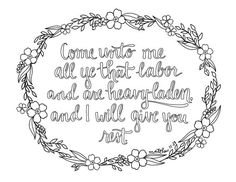 just what i {squeeze} in: Come Unto Me -- Coloring Page #5