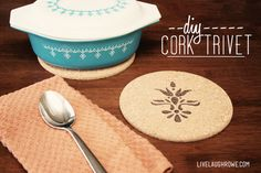 DIY Cork Trivets and Coasters. Super easy and fun. Great for gift giving!