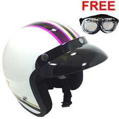 Viper RS-04 Open Face Scooter Motorbike Motorcycle Helmet Moderna Pink MOD Retro