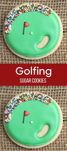 Golf Ball Favors / Golf Favors / Father's Day Gifts / Golf Party Decorations / Gifts for Dad / Golf Course Sugar Cookies #affiliate