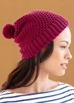 Two Ball Crochet Hat   For my taste, I would totally leave the dumb pom pom off!  ~ S
