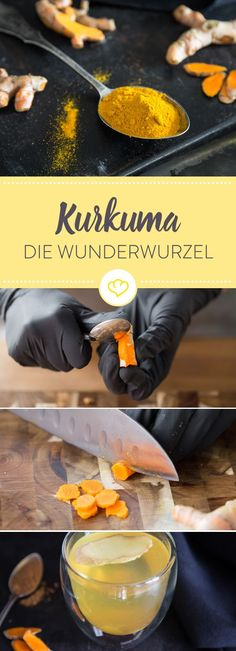 Turmeric - what you should know about the miracle root-Kurkuma – was du über die Wunderwurzel wissen solltest Turmeric is known as the queen of spices. Here you will learn interesting facts and recipe ideas about the miracle root. Plan Detox 7 Jours, Superfood, Tasty, Yummy Food, Learn To Cook, Detox Drinks, Health Diet, Food Videos, Healthy Life