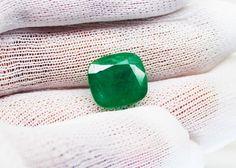 7.57 Fine Natural Emerald Cushion Zambia UnTreated Loose GemStone #RareGemIN