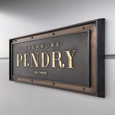 to this week's ribbon cutting at the Sagamore Pendry Baltimore and some of the most gorgeous signs we've ever had a chance to design! Shop Signage, Wayfinding Signage, Signage Design, Environmental Graphics, Environmental Design, Name Plate Design, Sign Board Design, Outdoor Signage, Exterior Signage