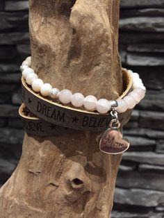 Ein persönlicher Favorit aus meinem Etsy-Shop https://www.etsy.com/de/listing/278132712/armband-kombi-leder-und-perlen-mit-mum