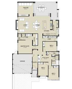 The Marina Floor Plan Small Bathroom Floor Plans, Bathroom Plans, Rectangle House Plans, Small House Plans, Master Bedroom Plans, Bedroom Floor Plans, Floor Plan With Dimensions, Circle House, Hotel Floor Plan