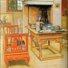carl larsson home | Carl Larsson' study