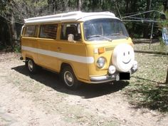smiley face vw with a stripe