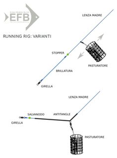 feeder fishing: running rig, varianti (testo sul blog)