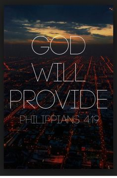 But my GOD shall supply all your need according to His riches in Glory by Christ Jesus. #Philippians 4:19 http://pic.twitter.com/U9Dv16Rgo9
