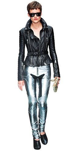 Because we gals REALLY need to have a black crotch shape on our crotch! Burberry Prorsum. Future Punk