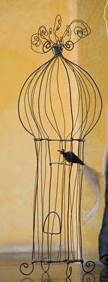 wire birdcage/((¯`♥´¯)) ✰  .`*.¸.*´✿¸.•*¨`*•..¸♥   ˙·♥●•٠