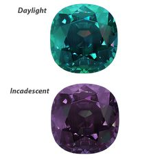 alexandrite - Color Change Red/Purple to Greenish Blue. Can be found in Russia which is top world class and thus most expensive. They can also be found in other places, although rare, and expensive, nothing can come close to the rarity and price of the Nobility that made them famous, which is Russian origin