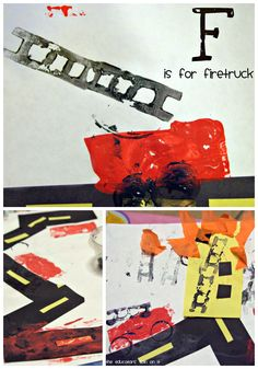 Fire Safety Activities for Kids F is for Firetruck at Tot School 22 Months Craft Idea