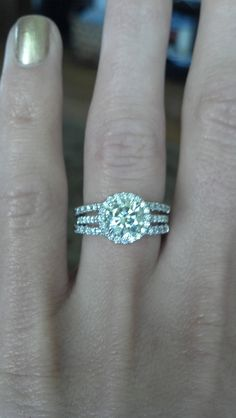1.20ct.  halo ring! heres a cute idea for my engagement ring :)