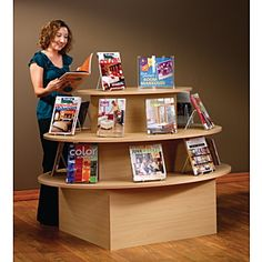 3-tier Oval Feature Display Table