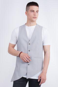 Longline Asymmetric Waistcoat