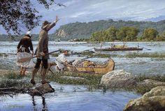 "John Buxton painting - The Susquehanna Waterway 12"" x 18"" oil"