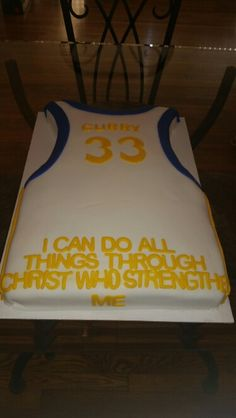 Stephen Curry Cake Basketball Birthday, Sports Birthday, Birthday Cakes, Birthday Ideas, Birthday Parties, Stephen Curry Cake, Stephen Curry Birthday, Partying Hard, Specialty Cakes