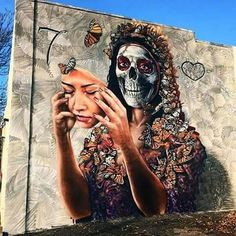 Day of the dead street art