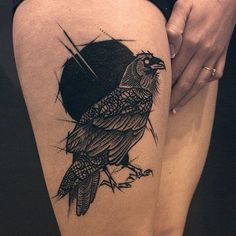 Marie Terry, a London based Tattoo Artist — 16 Somptuous Crow Tattoos