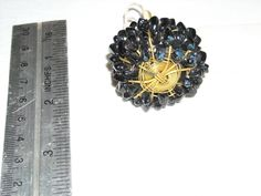 One Black Stone and Brass Drawer / Cabinet Door Pull Opener ~ for sale at Wenzel Thrifty Nickel eCRATER store