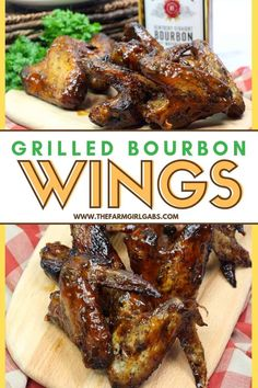 You Have Meals Poisoning More Normally Than You're Thinking That Wow Your Crowd At Your Next Bbq Or Summer Gathering. These Grilled Bourbon Chicken Wings Are A Deliciously Simple Grilled Chicken Recipe. Grilled Chicken Wings, Grilled Chicken Recipes, Chicken Wing Recipes, Marinated Chicken, Grilled Meat, Cashew Chicken, Amazing Wings Recipe, Bourbon Chicken Wings Recipe, Summer Grilling Recipes