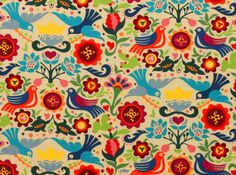 La Paloma tea Alexander Henry tela de patchwork tela de algodón tela mexicana tela para vestido doves palomas tela de diseño