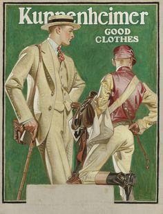 Joseph Christian Leyendecker, advertisement for Kuppenheimer, 1923