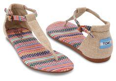 Mixed Woven Burlap #Vegan Women's Playa Sandals #TOMS