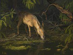 Prehistoric Animals, Free Prints, Fossil, Horses, Artwork, Painting, Extinct, Gain, Archive
