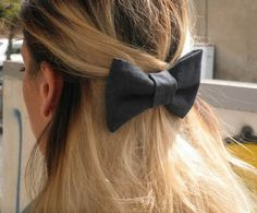 Jean handmade hair bow Hair accessories. Free by jtfashionsoul