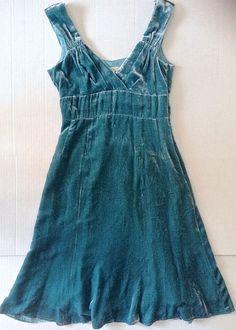 Nanette Lepore Shimmery Velvet Silk Dress w/ Short Train Fully Lined Size 2 #NanetteLepore