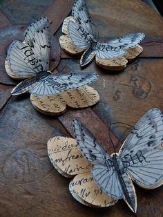 Papillons en papier - Lot de 3