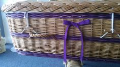 Our English Willow coffins are now available with bespoke colours and styles - and matching bows!