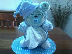 sleepy time diaper bear Kylie Schwartzkopf makes creations - Sarah - Baby Diy Baby Shower Baskets, Baby Shower Items, Baby Shower Crafts, Baby Shower Diapers, Baby Shower Fun, Baby Shower Decorations, Kylie, Practical Baby Shower Gifts, Bebe Shower