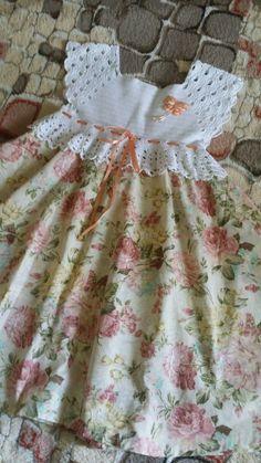 Girls Knitted Dress, Crochet Dress Girl, Baby Girl Crochet, Crochet Baby Clothes, Crochet For Kids, Crochet Dresses, Frock Patterns, Baby Patterns, Crochet Patterns