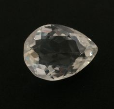 29.24 CT NATURAL CRYSTAL QUARTZ PEAR CUT WHITE COLORLESS LOOSE 17X23 GEMSTONE #ROUNDSNROSES