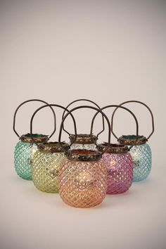 Hobnail Votive Candle Holders in various GEM colors