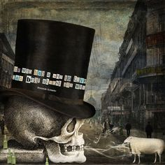 A Sheep In The City by Joannknnrd via Deviant Scrap