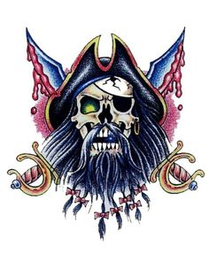 Pirate Skull miekoilla Tattoo