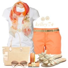 Summer Outfits | Scarf & Tee w/ a Flash & Tory Burch | Fashionista Trends