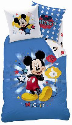 La star des studios Disney s'affiche sur cette parure de lit 100% coton et réversible. Idéal pour les fans de la petite souris créée par Walt Disney ! 37,99 EUR #decomickey #paruredelit #houssedecouette #decoenfant