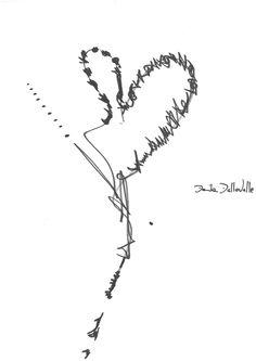 DARTGR0115053 #Heart #Black #love #DanielaDallavalle #Grafismi #loveistheanswer #ink #sketches #art #sentences #phrase