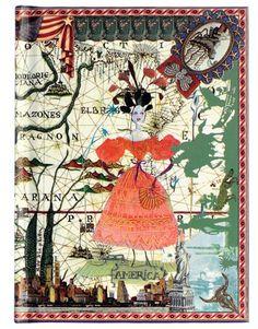 Caderno de Anotações 6 Continentes Christian Lacroix - Christian Lacroix Notebook Set 6 Continents