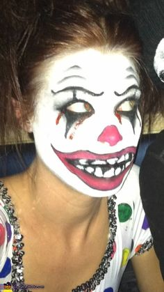 Scary Clown Costume! (no wonder some people don't like clown)