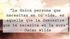 La única persona...