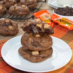 Peanut Butter Cup Brownie Cookies {Sweet Pea's Kitchen}