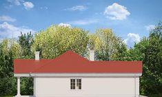 Elewacja lewa projektu Dom na Parkowej 2 Small Villa, Outdoor Decor, Home Decor, Decoration Home, Room Decor, Home Interior Design, Home Decoration, Interior Design